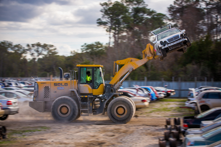 Florida's Ace Pick A Part runs a fleet of SDLG frontend loaders for auto salvage and recycling