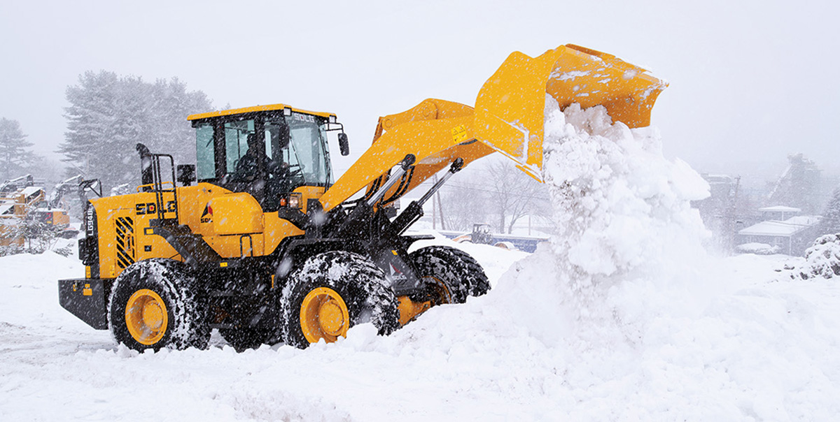 SDLG Front end Loaders Lease Program for Snow Removal