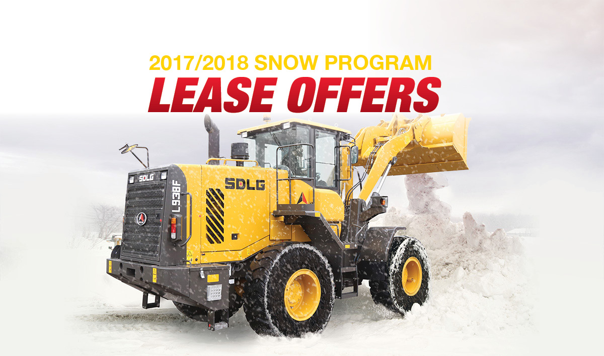 SDLG front end loaders lease program snow removal
