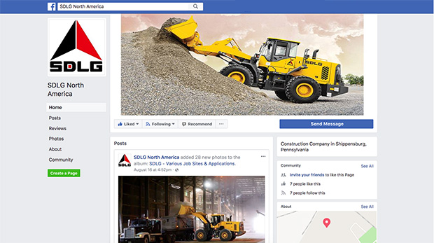SDLG North America is now on Facebook!